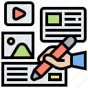 content, design, interface, story, template icon