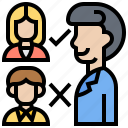 customer, feedback, requirement, selection, service icon