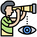 aspiration, foresight, mission, plan, vision icon
