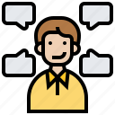 character, communication, person, role, script icon