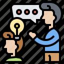 brainstorm, corporate, idea, share, teamwork icon