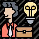 idea, intelligence, operate, professional, work icon