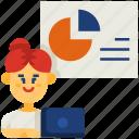 analytics, analyze, business, chart, diagram, presentation, work