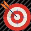aim, arrow, bullseye, focus, goal, success, target
