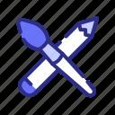 art, tool, brush, pencil
