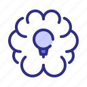 brain, idea, bulb, thinking