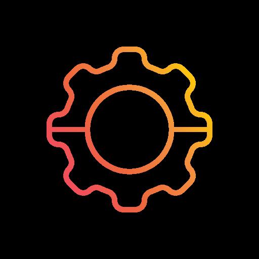 development, engineering, gear, performance, productivity, setting, ui icon