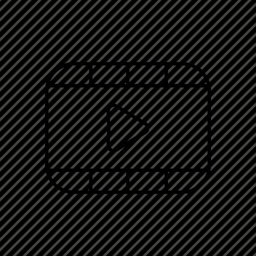 interface, media, multimedia, player, ui, video icon