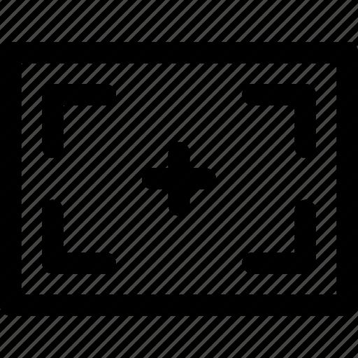 area, content, frame, margin, perimeter, screen, targed icon