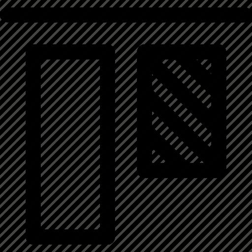 align, arrange, design, elements, layout, top, vertical icon