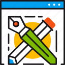 design, developing, edit, ideas, options, pencil, preferences icon