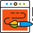 abstract, brush, creative, design, illustration, line, tool icon