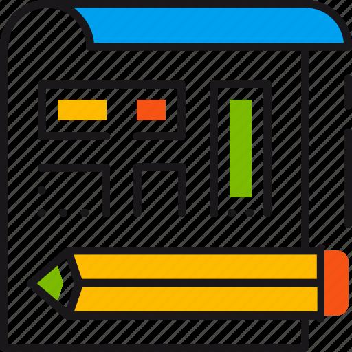 design, edit, illustration, pencil, project, scheme, sketch icon