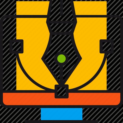 creative, design, graphics, line, pen, shape, tool icon