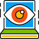 eye, find, optimization, search, seo, view, vision icon