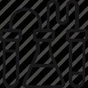 creating, design, development, flask, lab, process, tube icon