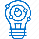 bulb, creative, idea, innovation, invention, lamp, solution icon