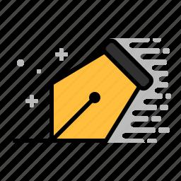 design, nib, pen, pen nib, tools, write icon