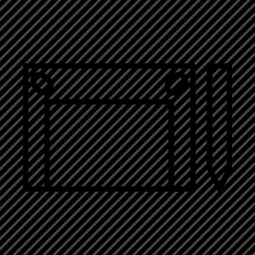 designer, hardware, pen, pentab, tablet icon