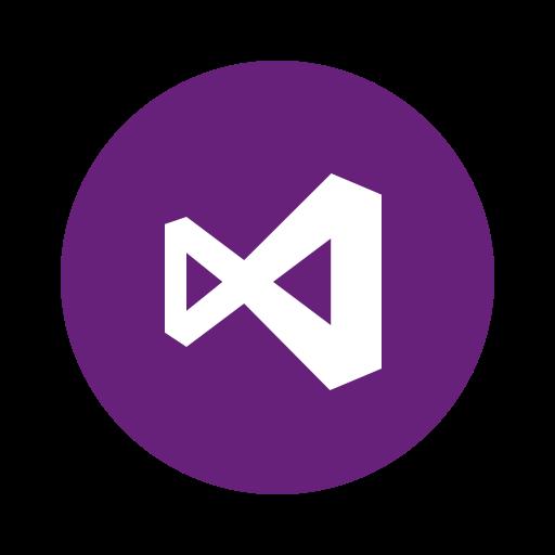 css, develop, html, javascript, microsoft, visualstudio, webdesign icon