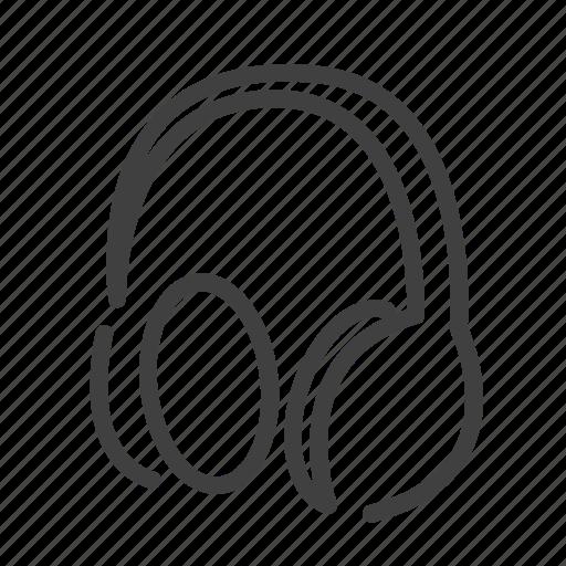 audio, design, headphone, music, sound, tools, work icon
