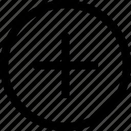 add, document, new, open, plus, round, square icon