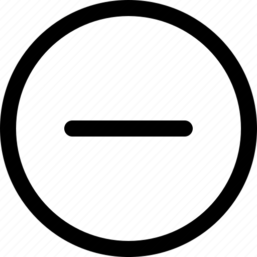 delete, minus, round, square icon