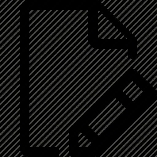 document, edit, edit file, format icon