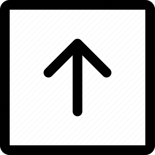 arrow, down, left, long, right, square, up icon