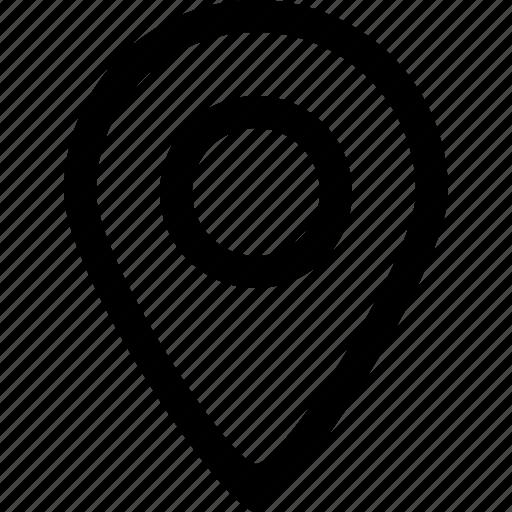 dot, location, map, marker, market, navigate, pin icon