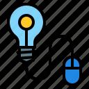 idea, bulb, creative, mouse, light, design, thinking