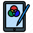 tablet, drawing, rgb, devices, technology, design, thinking