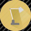 desk, electricity, flashlight, idea, lamp, light, lightbulb
