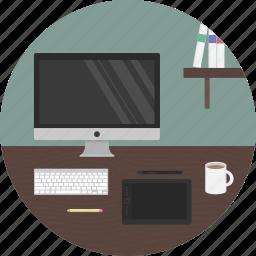 creator, design, designer, desk, maker, wacom, work icon