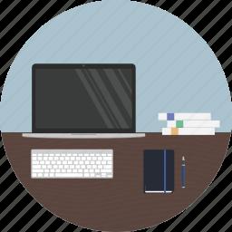 coder, creator, desk, developer, maker, student, work icon