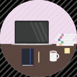 coder, desk, developer, maker, student, study, work icon