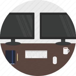coder, creator, desk, developer, maker, work icon