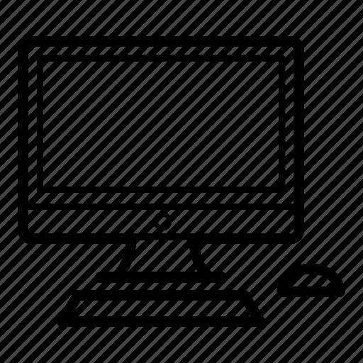 computer, computer display, computer monitor, computer screen, desktop computer, technology icon