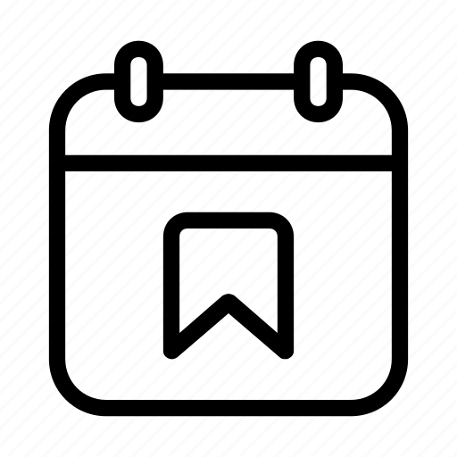 calendar, date, flagged, important date icon