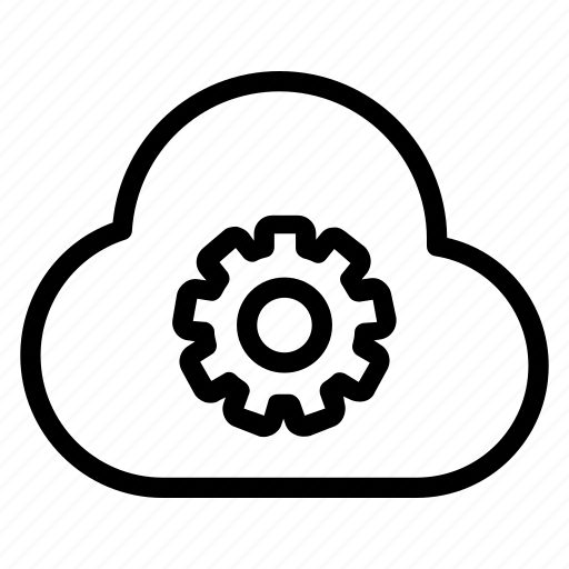 cloud, gear, set up, settings icon