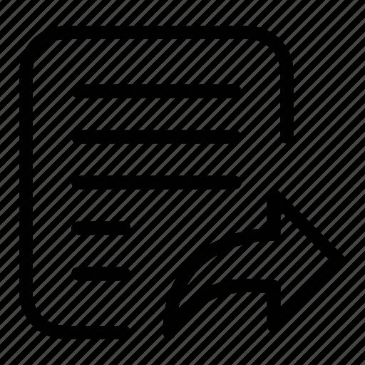 doc, document, file, publish, send file, share icon