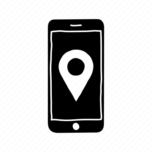device, directions, iphone, location, mobile, screen, smartphone directions icon