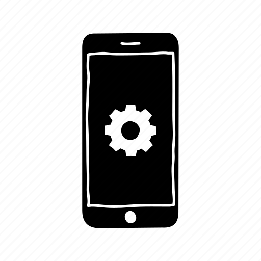 device, gear, iphone, mobile, screen, settings, smartphone icon