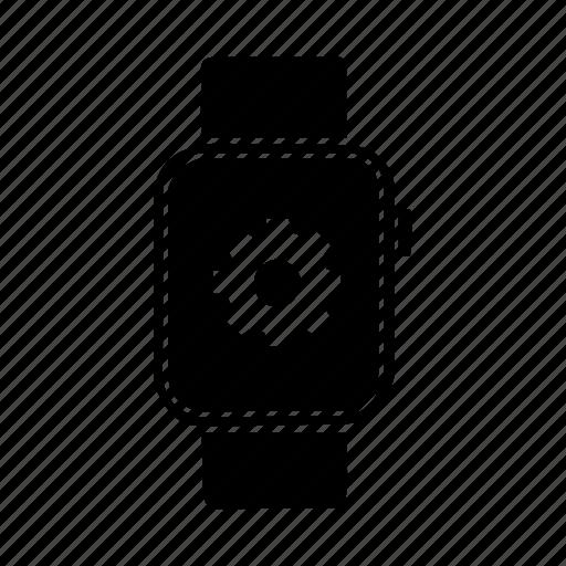 apple watch, device, gear, mobile, screen, settings, watch icon