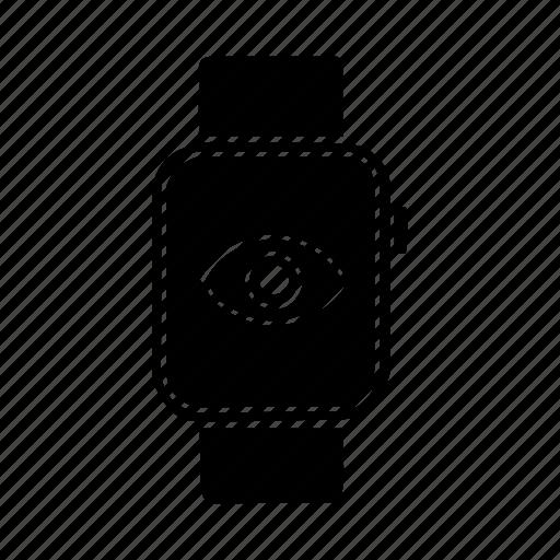 apple watch, device, eye, mobile, screen, view, watch icon