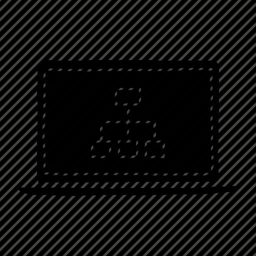 device, diagram, laptop, macbook, mobile, screen, sitemap icon