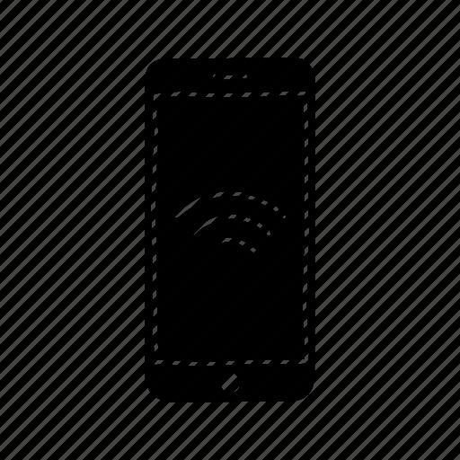 device, iphone, mobile, screen, smartphone, wifi, wireless icon