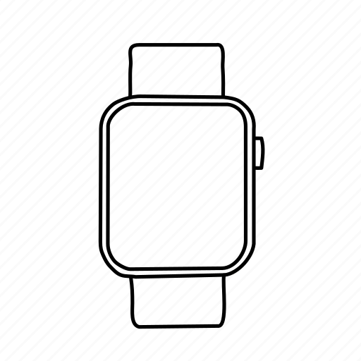 apple, apple watch, devices, handdrawn, mobile, screens, watch icon