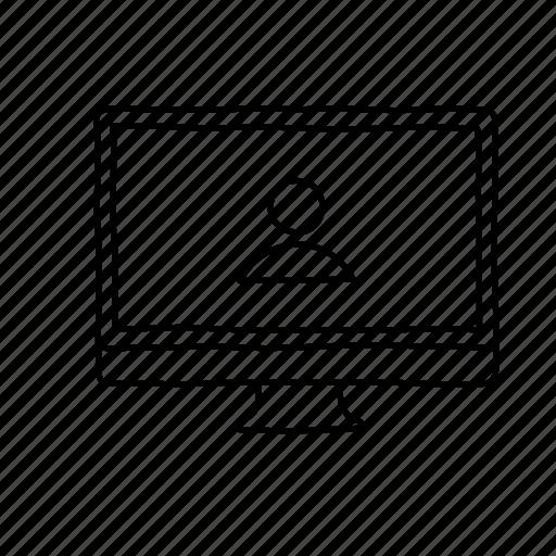 avatar, computer, desktop, devices, handdrawn, profile, screens icon
