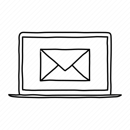 devices, handdrawn, laptop, mail, message, mobile, screens icon